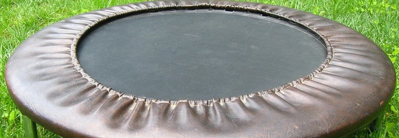 brown trampoline